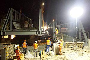 Stuttgart 21, Kontrollvermessung zur Brückeneinhebung